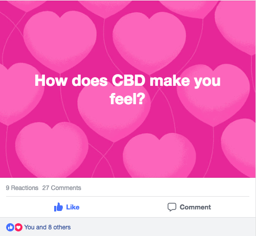 How does CBD make you feel Facebook?