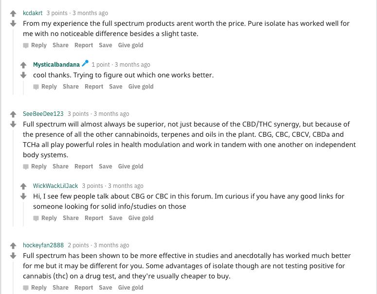 Isolate vs full spectrum cbd reddit