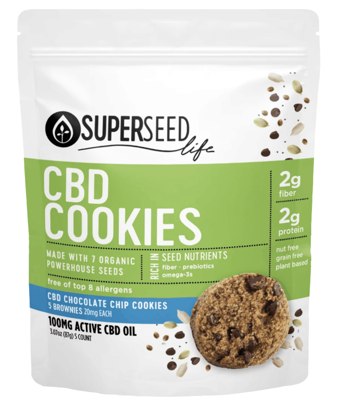 SuperSeed Chocolate Chip CBD Cookies