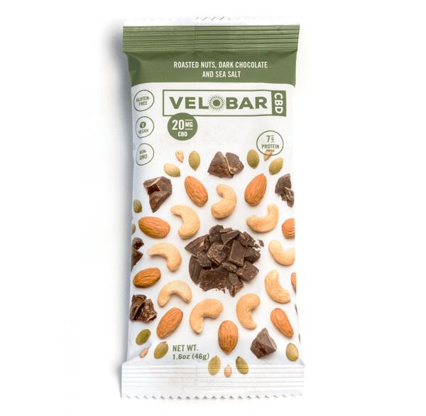 Velobar CBD Roasted Nuts, Dark Chocolate and Sea Salt