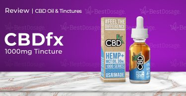 CBDfx CBD Tincture 1000mg Review