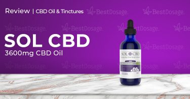 SOLCBD 3600mg CBD Tincture Review