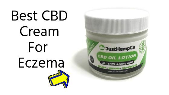 JustHempCo CBD Cream For Eczema