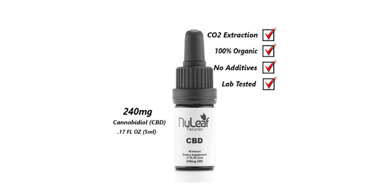 Nuleaf Naturals: 240mg Full Spectrum CBD Oi