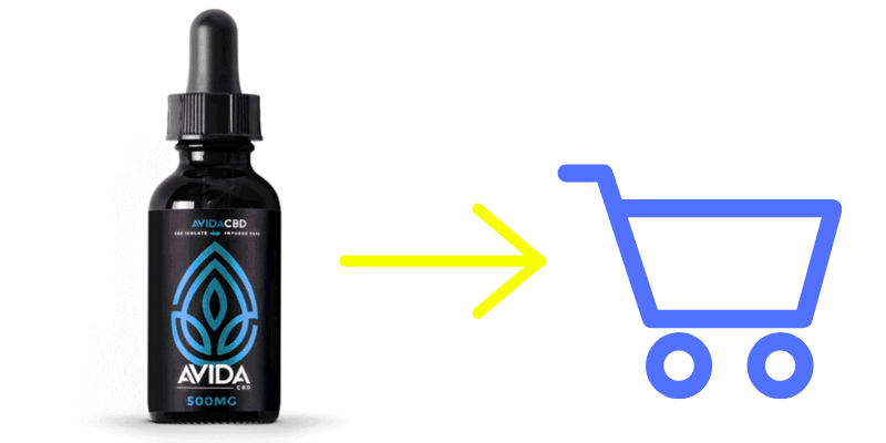 Avida CBD Vape Juice Blue Raspberry