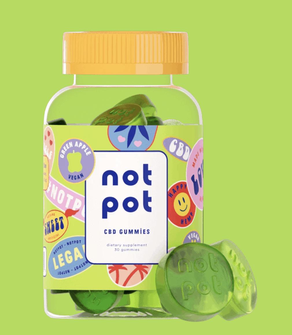 Green Apple Not Pot CBD Gummies