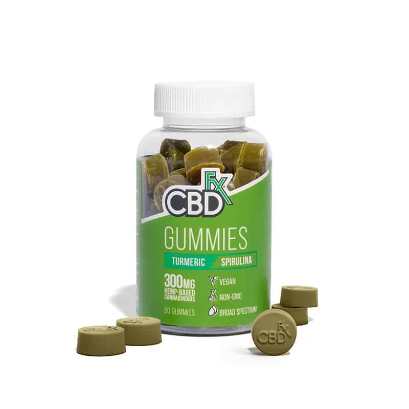 CBDfx Spirulina and Turmeric Gummies