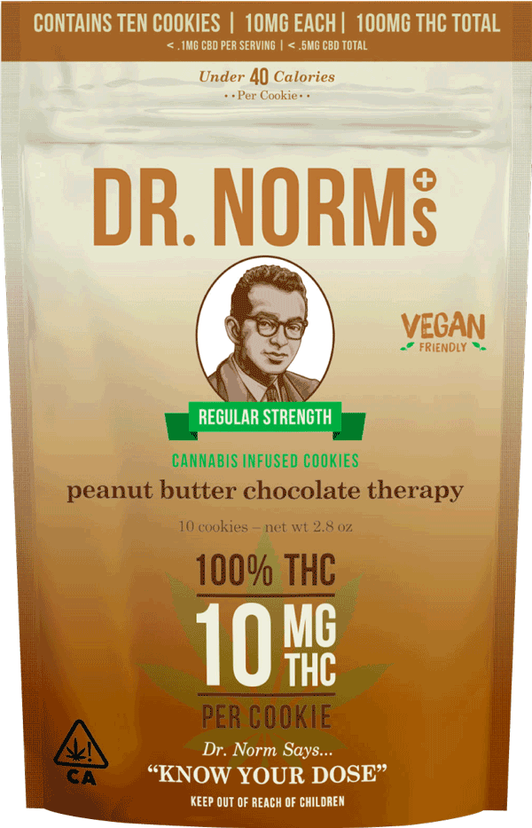 Dr Norms THC Cookies Peanut Butter Vegan