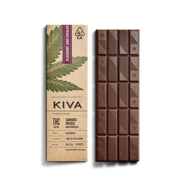 KIVA Blackberry Dark Chocolate Bar