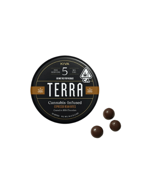 Kiva Espresso Beans with bean pods transparent