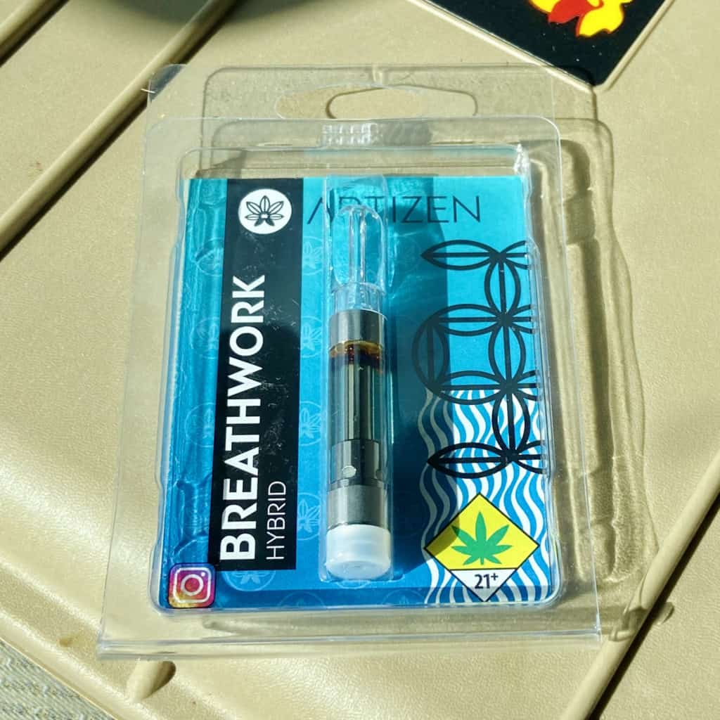 Artizen Breathwork 1g Distillate Vape Cartridge