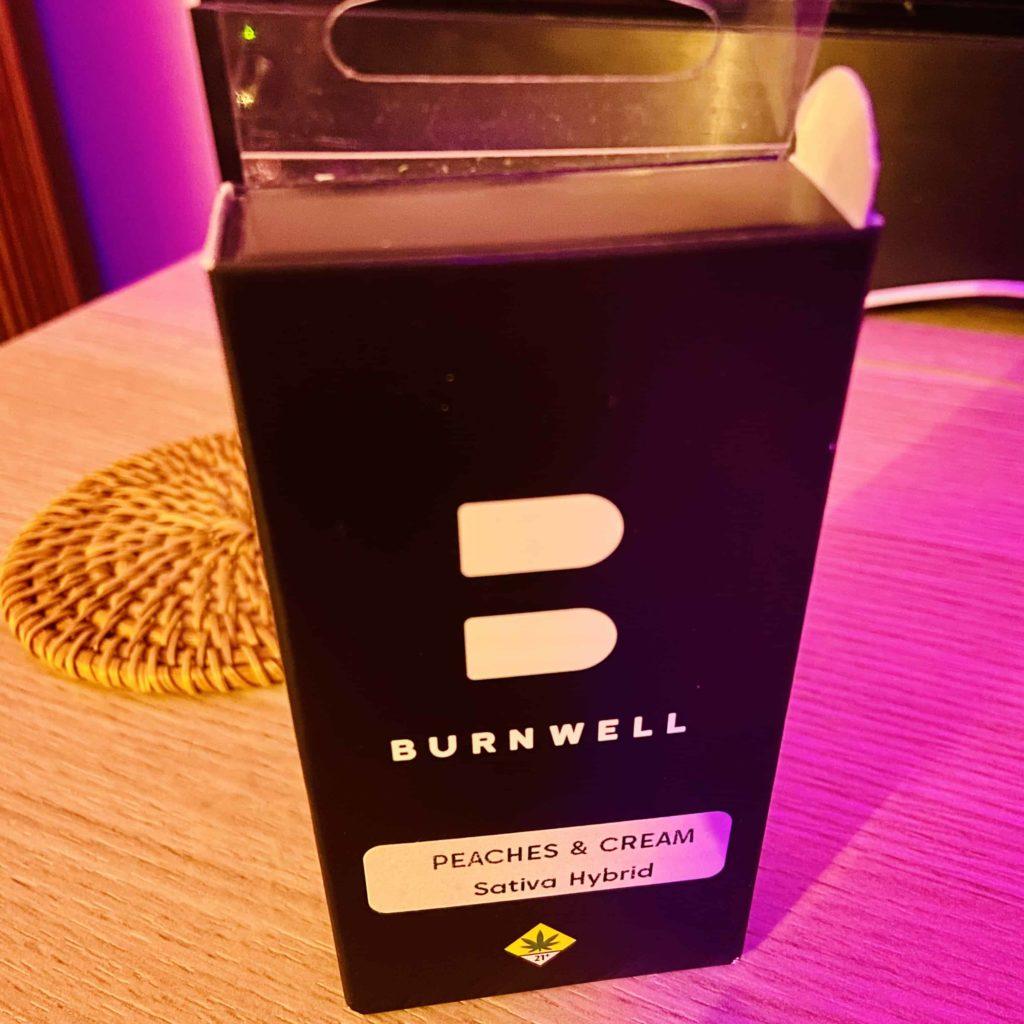 Burnwell Peaches & Cream 1g Live Resin Vape