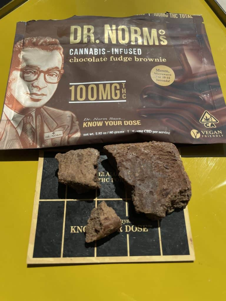 Dr. Norms Cannabis-Infused Chocolate Fudge Brownie 100mg