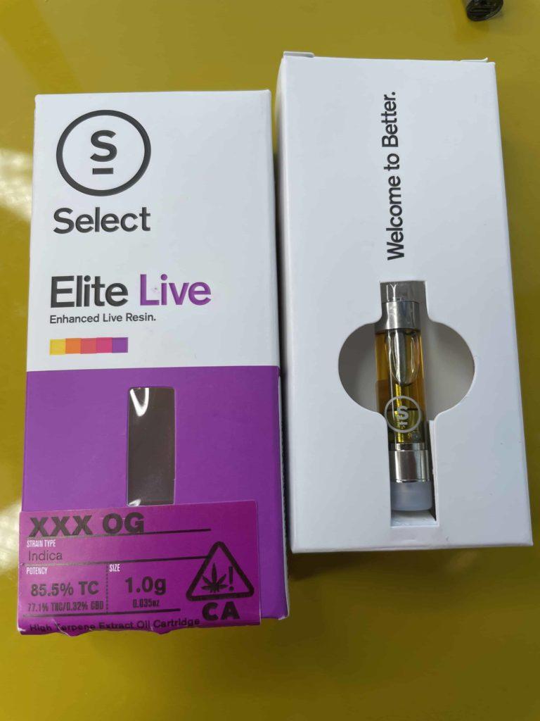 Select Elite Live XXX OG Vape Cartridge 1g