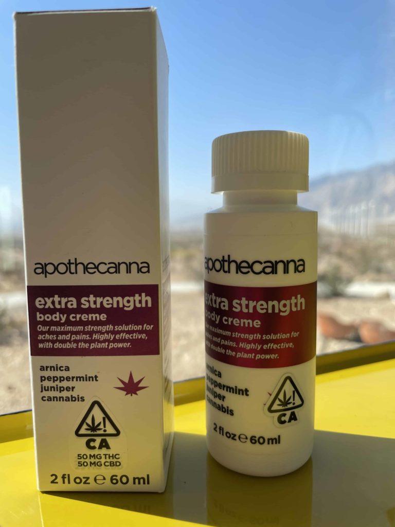 Apothecanna Extra Strength Body Creme 200mg THC + 200mg CBD