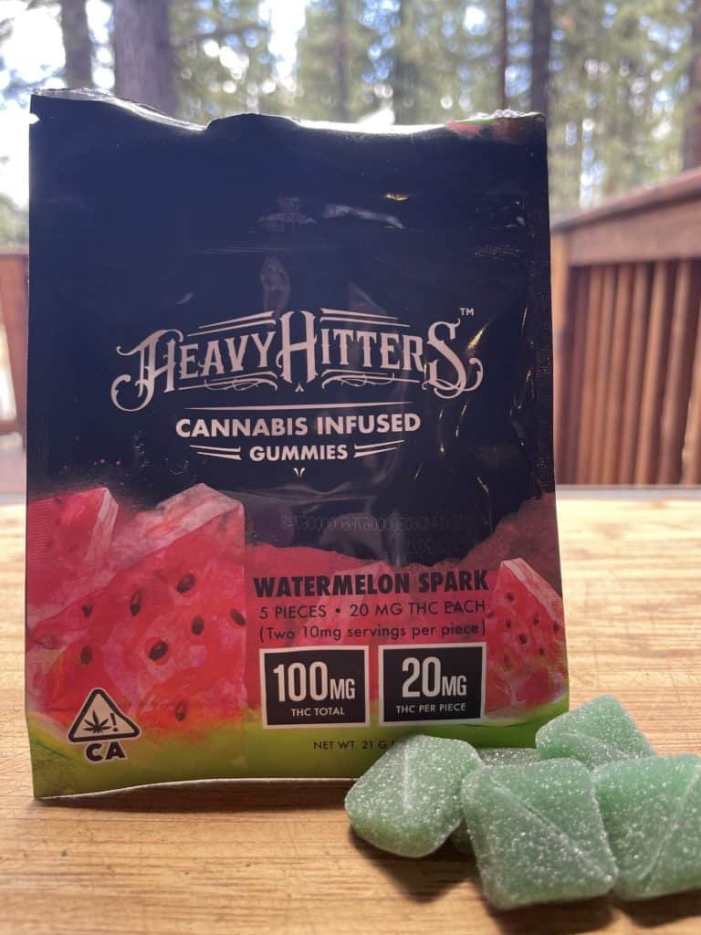 Heavy Hitters Watermelon Spark THC Infused Gummies